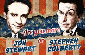 Are You More Jon Stewart Or Stephen Colbert?