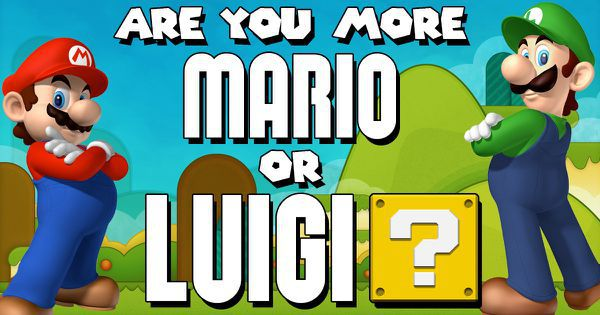 Are You More Mario Or Luigi?