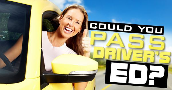 Could You Pass Driver's Ed?