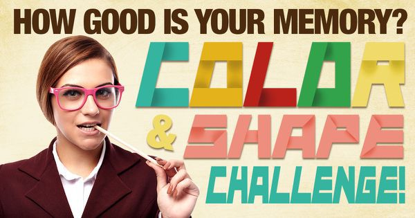 How Good Is Your Memory? Color & Shape Challenge!
