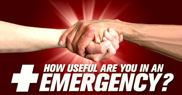 How Useful Are You In An Emergency?