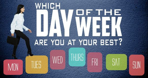 Which Day Of The Week Are You At Your Best?