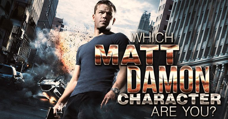 Which Matt Damon Character Are You?