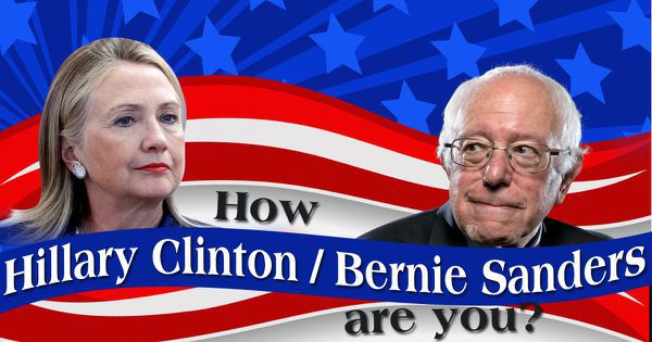 How Hillary Clinton/Bernie Sanders Are You?