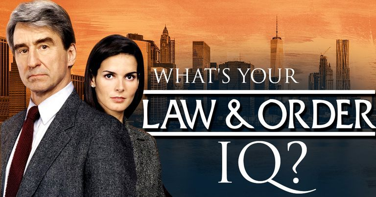 "What's Your ""Law & Order"" IQ?"