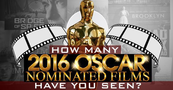 How Many 2016 Oscar Nominated Films Have You Seen?