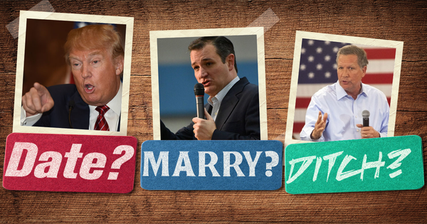 Date, Marry, or Ditch: Republican Presidential Candidates
