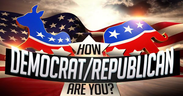 How Democrat or Republican are you