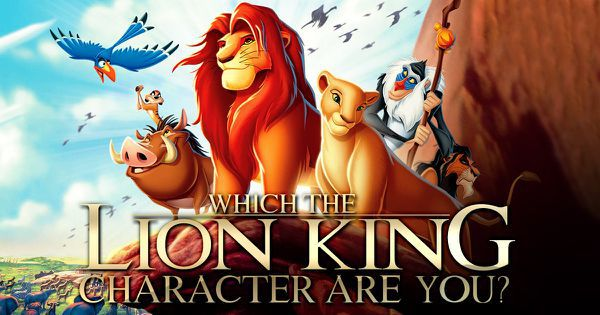 "Which ""The Lion King"" Character Are You?"