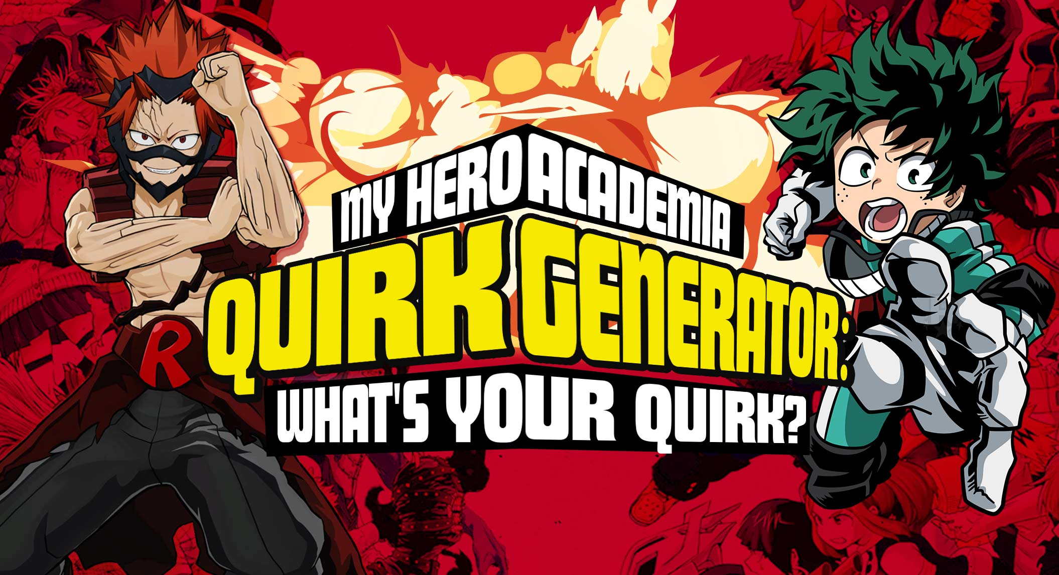 My Hero Academia Quirk Generator What's Your MHA Quirk   BrainFall